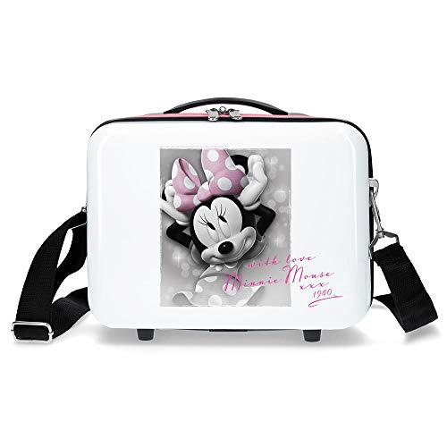 Disney Minnie Style Nececer Adaptable, Love, Blanco, 29 x 21 x 15...