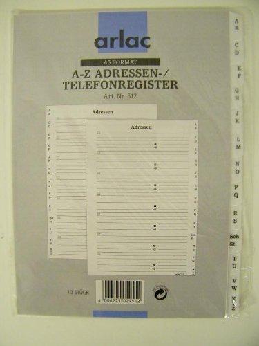 arlac - A-Z Adressen- und Telefonregister, A5