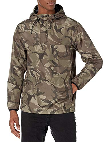 RVCA Men's KRAIL Anorak Jacket, CAMO, XL