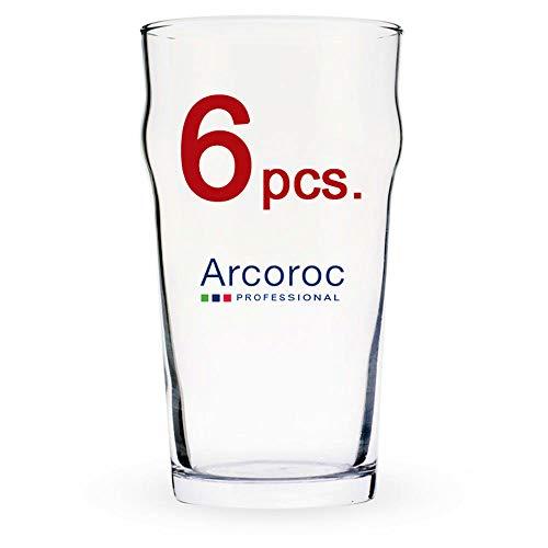 Arcoroc Nonic 57Cl Pinta–Vaso de Cerveza–Juego de 6