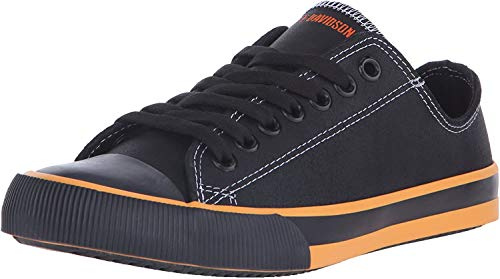 Harley-Davidson Women's Zia Vulcanized Shoe, Black/Orange, 7.5 M US
