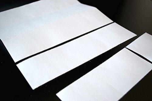 Eintrittskarten perforiert 210 x 55 mm zum Selberdrucken, Abriss: 70 x 55 mm