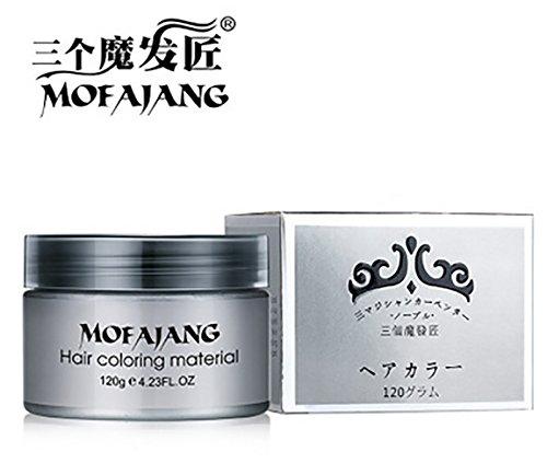 Wanghong ヘア カラー スタイリング ワックス 120ml グレー やホワイトや レッドなど全部7カラー アッシュ...