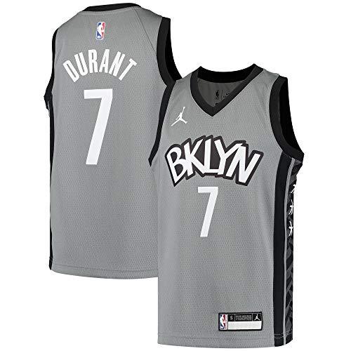 Kevin Durant Brooklyn Nets NBA Jordan Brand Boys Kids 4-7 Gray Statement Edition Jersey (Kids 4)