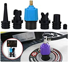 SUP Electric Pump Adaptor Compressor Air Valve Converter Multifunction Valve Adapter with 4 Air Nozzles for Halkey Roberts Valve, Stand Up Inflatable Paddle Board, Inflatable Bed, Inflatable Boat