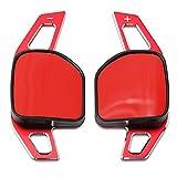 LITOSM Paletas de Cambio de Volante Shift Paddles Uso Adecuado para Audi SLINE Quattro RS Q3 Q5 Q7 S3 S5 SQ5 SQ7 R8 A3 A4 A5 TT TTS Las paletas del Volante de los automóviles se extienden Pegatinas