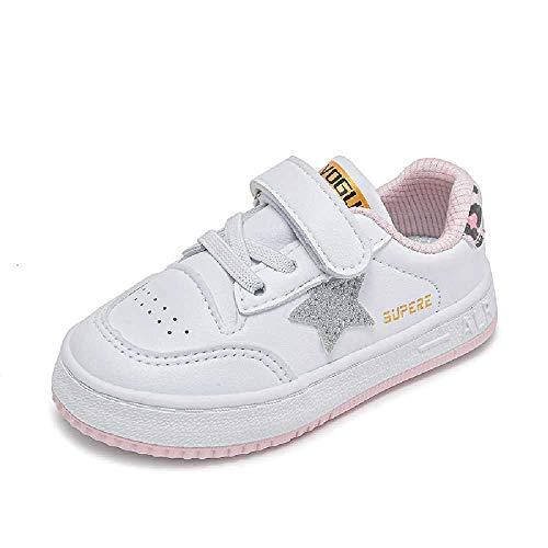 N\C Baby Kleinkind Schuhe Kinder Weiß Schuhe Frühling Herbst Weiche Sohle Jungen Schuhe Leder Schuhe 1-3 Jahre alt Sneakers 20 Weiß Pulver