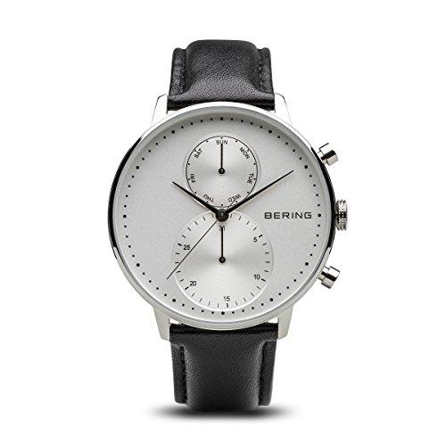 BERING Reloj Cronógrafo para Hombre de Cuarzo con Correa en