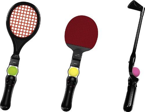 Speedlink Match 3 in 1 Sportgeräte für den Playstation 3/PS3 Move Motion Controller (Tennis, Tischtennis, Golf)