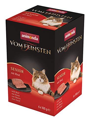 animonda Vom Feinsten Senior, Nassfutter für ältere Katzen ab 7 Jahren, mit Rind, 6 x 100g