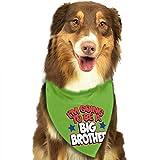 Wfispiy Bufanda del Animal doméstico del pañuelo del Perro Soy el Hermano Mayor Collares clásicos del Animal doméstico del pañuelo del Animal doméstico para el Gato del Perro Un tamaño