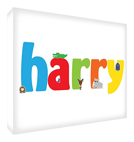 Feel Good Art Souvenirs polis en diamant avec inscription « Token » et personnalisable avec le nom de garçon 10,5 x 7,4 x 2 cm, petite taille Harry