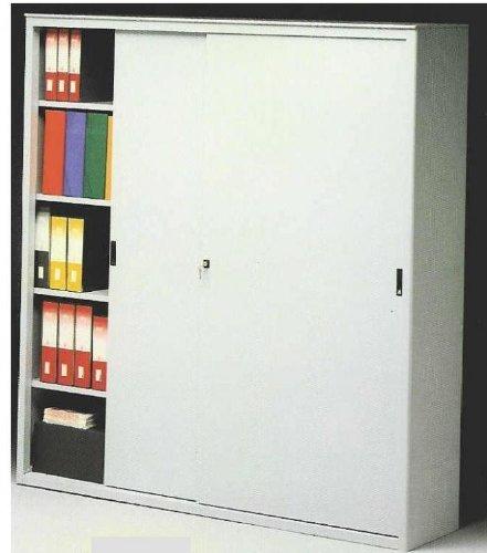 Ideapiu ARMADI Metallici per Ufficio Armadio Metallico Porte SCORREVOLI CM. 120 LUNGH. X 45 Prof. X 200 H