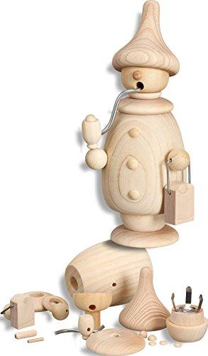 Rudolphs Schatzkiste Bastelset Bausatz Räuchermann HxBxT = 17x8x7cm NEU Basteln Bastelset Bauen Haus Weihnachten Seiffen Erzgebirge Winter Dekoration Holzkunst Holz