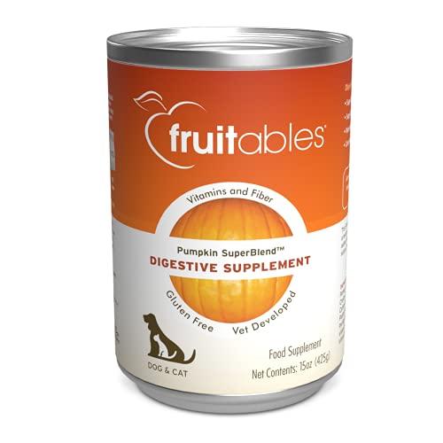 Fruitables Pumpkin Dog Digestive Supplement, with vitamin, fiber and...