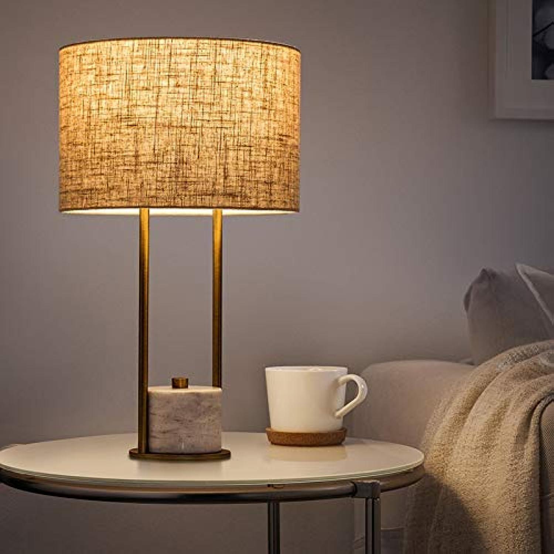 JINSH Home Nordische Schlafzimmer Lampe Wohnzimmer einfache europäische kreative Hotel Marmor Nachttischlampe B07JPX7BM7 | Ausgezeichnete Leistung