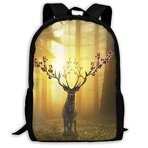 Deer Forest Surreal - Mochila de viaje para portátil con capacidad para libros, ligera, para niñas, niños, universidad, escuela, mujeres, hombres, oficina