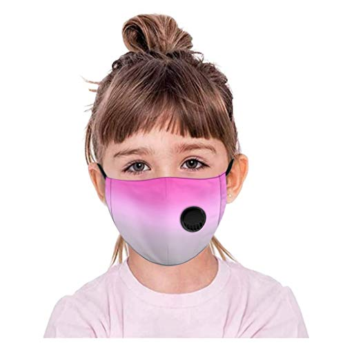 PPangUDing Kinder Mundschutz Waschbar Baumwolle mit Ventil Atmungsaktive Staubdicht Motiv Bunt Multifunktional Halstuch Schlauchschal Multifunktionstuch für Junge und Mädchen