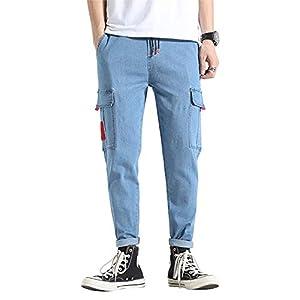 Men's Jeans Denim Cargo Pants Men's Slim-Fit Stretch Jeans
