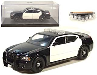2006 Dodge Charger R/T Police Blank 1/24 B&W - Jada Toys Diecast