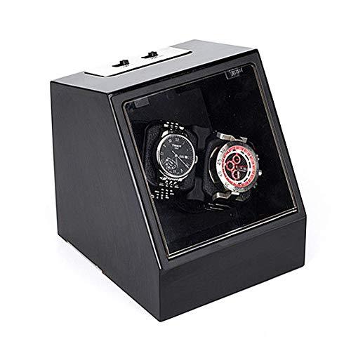 ZHANGYH Agitador de reloj mecánico 2 relojes mecánicos, motor silencioso alimentado con pilas y caja de bobina automática doble (color: C)