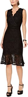 Lace Flounce-Hem Dress