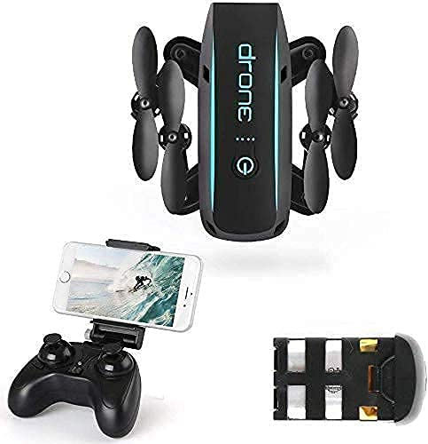 FMHCTN Drone telecomandato Dotato di Telecamera ad Alta Definizione WiFi FPV 720P 2.4Ghz Pieghevole Mini Aereo a Quattro Assi principiante