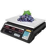 Bonvoisin Báscula digital de pesaje de precios de 40 kg recargable y precisa báscula de mercado al por menor equipo de conteo para frutas y verduras mariscos vivos
