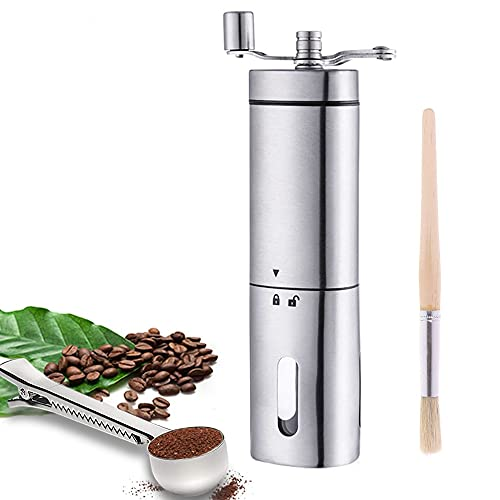ReLX Macina caffè Manuale, Portatile in Acciaio Inossidabile Mano macinacaffè macina (A)