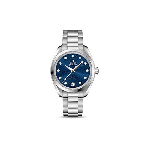 Omega Seamaster Blue Diammond Dial reloj automático de las señoras 220.10.34.20.53.001