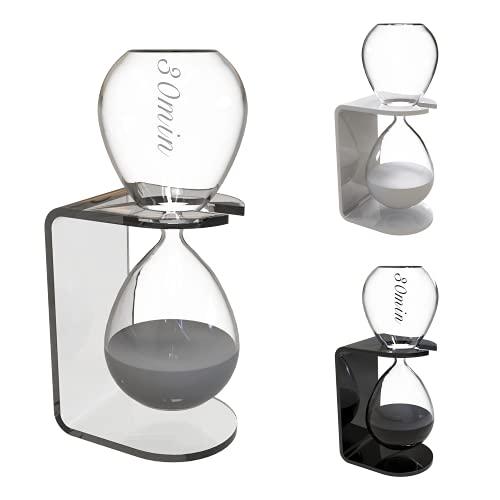 Clessidra Design 30 Minuti - Clessidra Grande in Vetro - Clessidre Particolari da Arredamento - Decorazioni Casa Moderna Oggettistica - Gadget Scrivania