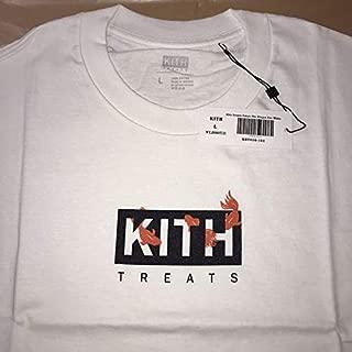 L 白 KITH TREATS Tokyo 金魚 Tシャツ kingyo tee キス トリーツ 限定