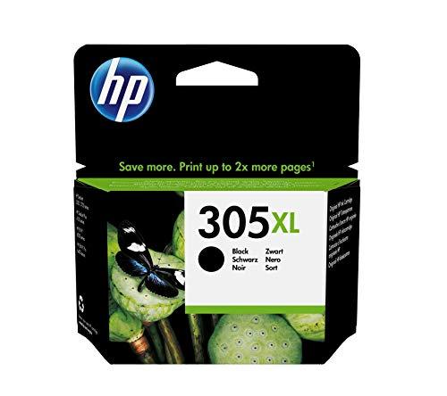 HP 305XL 3YM62AE Cartuccia Originale, da 240 Pagine, ad Alta Capacità, per Stampanti a Getto di Inchiostro HP DeskJet Serie 2700, 4100, ENVY Serie 6020, 6030, 6400 e 6430, Nero
