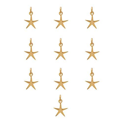 Shine Jewel Pendentif étoile exclusif en argent sterling 925 serti de 10 pièces pour femme