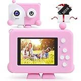 Cámara Digital para Niños, Domybest Camara Infantil de Doble Lente 1200MP/1080P con Tarjeta de 32GB TF, Cámara para Niños de 2.4' Pantalla, Set de Cámara de Fotos Digital, Regalos para 3 a 12 Años