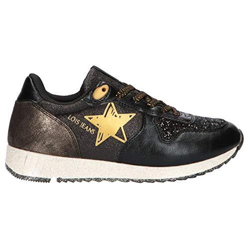 Zapatillas Deporte de Mujer y Niña LOIS JEANS 63045 26 Negro Talla 34