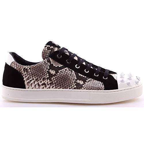 BOTTICELLI Heren Schoenen Sneakers Roberto Limited Python Rock Wit Gemaakt Italië Nieuw