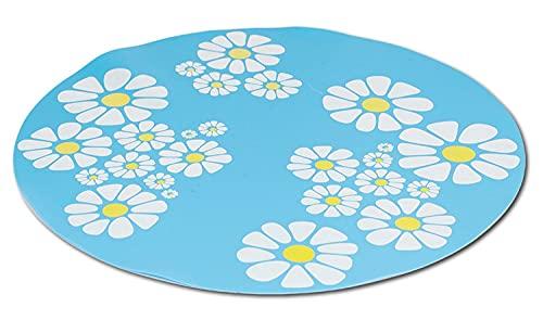 PETGARD Unterlegmatte passend für Trinkbrunnen Blue Sky blau mit Blumen