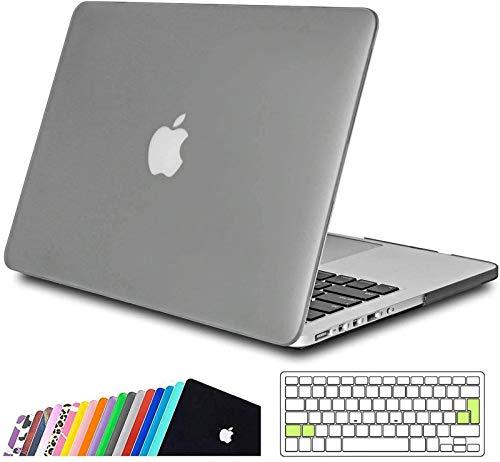 iNeseon Custodia MacBook PRO 13 Retina (Modello A1502 A1425),Plastica Case Cover Duro e Trasparente Tastiera Copertina per 2012-2015 MacBook PRO 13(31,4 x 21,9cm) con Retina Display, Nero