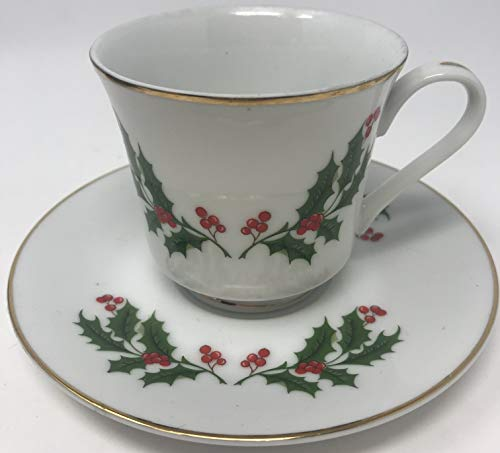 All The Trimmings Holiday Cup and Saucer