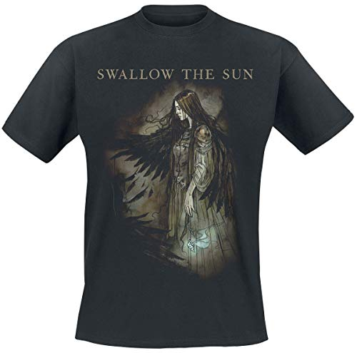 Swallow The Sun Wings Uomo T-Shirt Nero XL 100% Cotone Regular