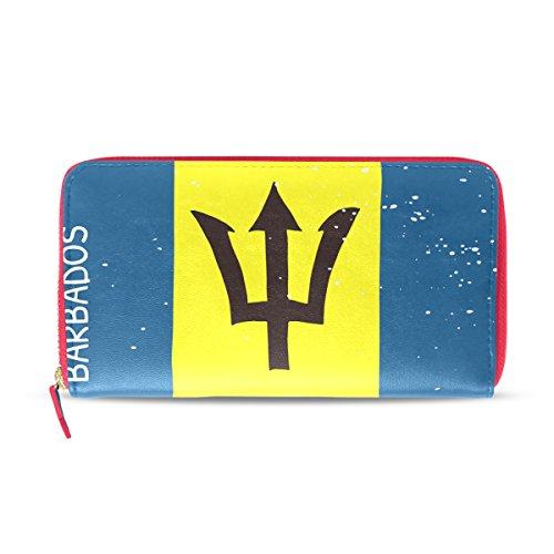 Bandera de Barbados Envejecida para Mujer, Cartera de Cuero, Cartera de Mano, Bolsa de Regalo para su niña
