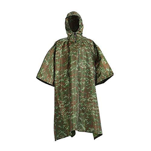 YONGYONG Poncho Antipluie Camouflage À Capuchon Imperméable Lâche Poncho Auvent De Sol Multi-Fonction Adapté Aux Activités De Plein Air (Size : B)