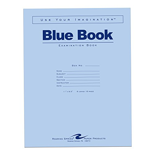 Roaring Spring Blue Exam Book, 11