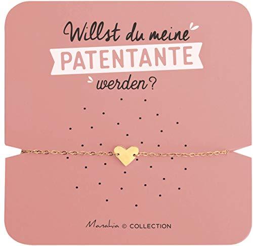 Armband Patentante Herz   Edelstahlarmband   Willst du meine Patentante werden?   Ankündigungsarmband Geburt, Fragearmband Patentante, Patentante fragen   Kommt in einer hübschen Geschenk-Box