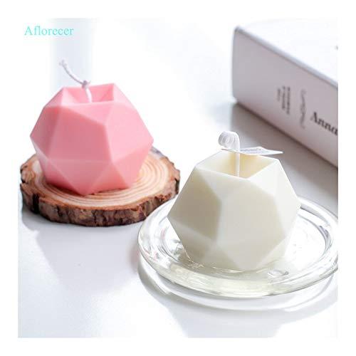 HONGTAI Acht Versahen Multilateral Diamant-Gesicht Cube-Kerze-Form Kreative Handgemachte Aromatherapie Kerze Silikon-Form