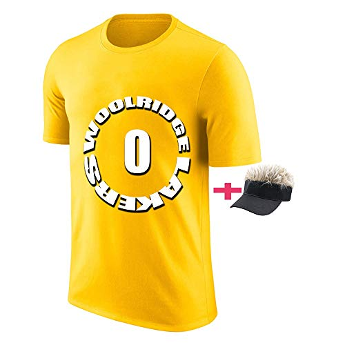 WEF Luisiana Hombre Camisetas Orlando Woolridge Sport Shirt Gym T Shirt Cuello Redondo Transpirable Yellow-XL (Sombrero Gratis) (Color : Amarillo, Size : X-Large)