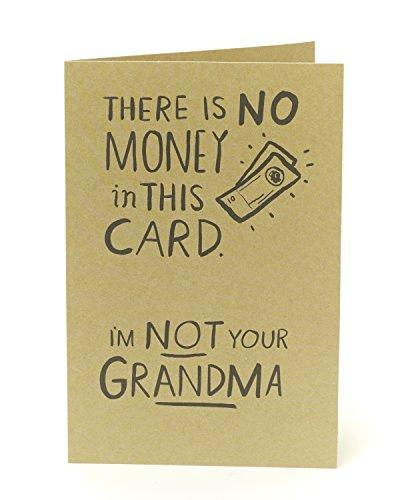 Lustige Geburtstagskarte Funny–kein Geld