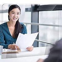 WJJW パーテーション オフィスアクリルパーテーション 透明 飛沫防止 間仕切り 仕切り板 衝立 角丸加工 対面式スクリーン 設置簡単