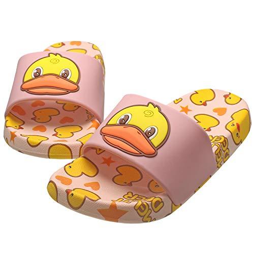 KRONJ Unisex Kinder Badeschuhe rutschfeste Pool Hausschuh Sommer Strand Sandale Slipper Pink-26